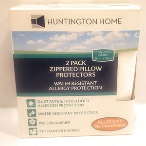 2 zippered pillow Protectors Allergy protection